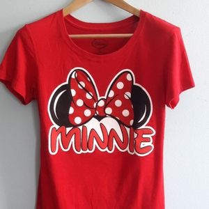 Disney minnie ears and bow tshirt